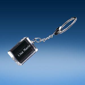 Crystal Rectangular Keychain