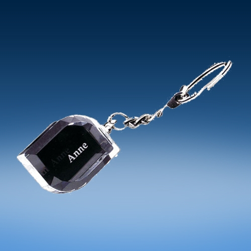 Crystal Angle-Facet Keychain