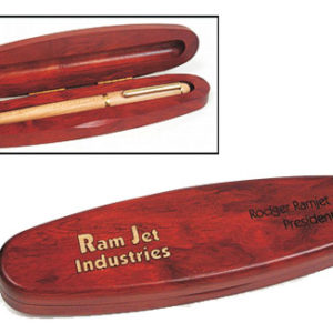 Rosewood Single Oval Pen Box