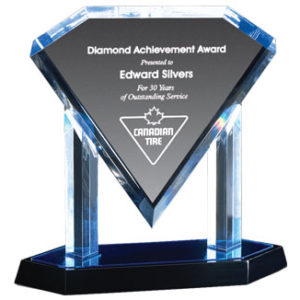 Acrylic Floating Diamond Award