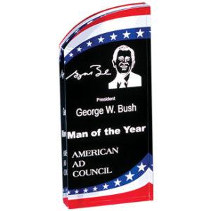 Patriotic Arch Acrylic Award