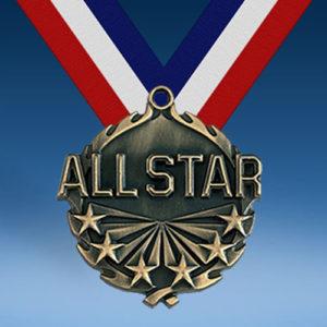"All Star 1 3/4"" Wreath Medal-0"