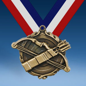 "Archery 1 3/4"" Wreath Medal-0"