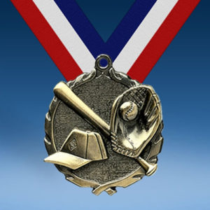 Baseball Wreath Medal-0