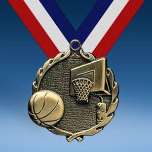 Basketball Wreath Medal-0