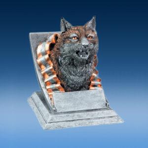 Resin Bobcat Mascot