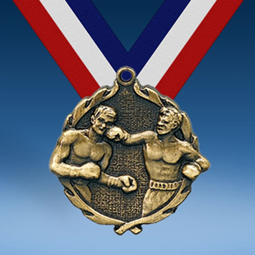 "Boxing 1 3/4"" Wreath Medal-0"