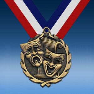 """Drama 1 3/4"""" Wreath Medal-0"""