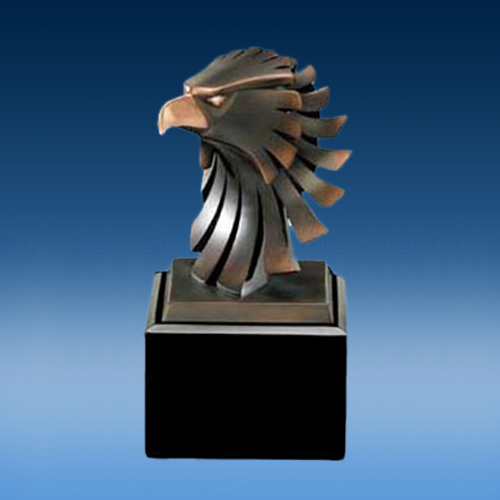 Resin Electroplated Eagle Head