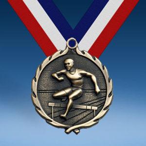 "Hurdles - Female 1 3/4"" Wreath Medal-0"