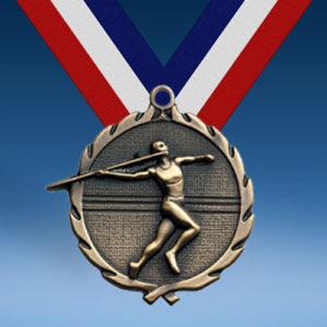 "Javelin - Female 1 3/4"" Wreath Medal-0"
