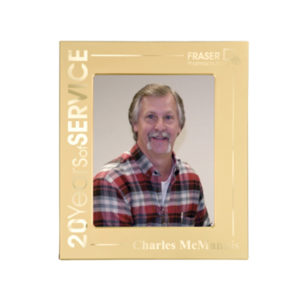 Matte Gold Laserable Photo Frame