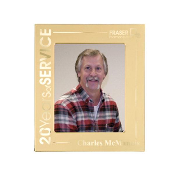 Matte Gold Laserable Photo Frame