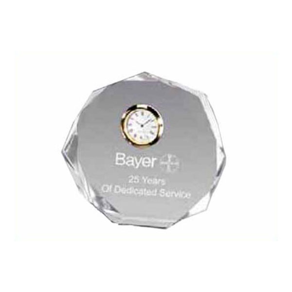 Octagon Bevel Clock