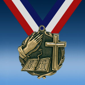 "Religion 1 3/4"" Wreath Medal-0"