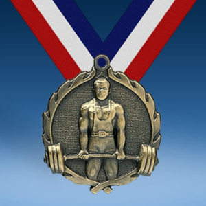 Weightlifting Wreath Medal-0