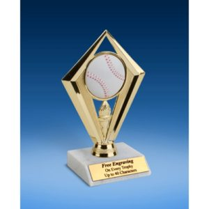 Baseball Diamond Trophy 6""