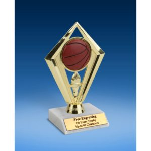 Basketball Diamond Trophy 6""