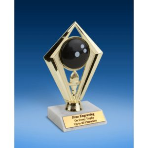 Bowling Diamond Trophy 6""