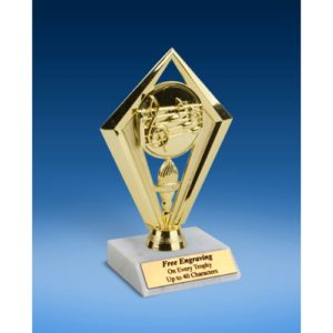 Music Diamond Trophy 6""