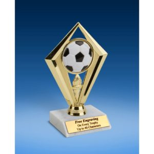 Soccer Diamond Trophy 6""