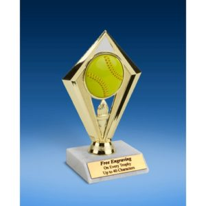 Softball Diamond Trophy 6""
