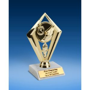 Track Diamond Trophy 6""