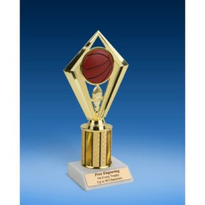 Basketball Diamond Trophy 8""