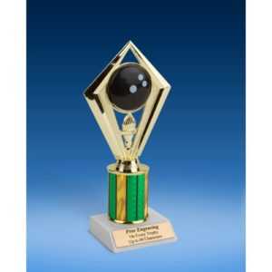 Bowling Diamond Trophy 8""