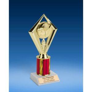 Golf Diamond Trophy 8""