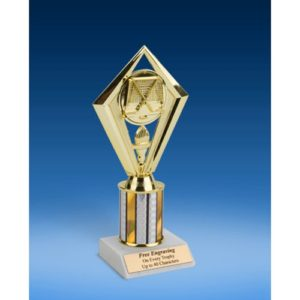 Hockey Diamond Trophy 8""