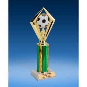 Soccer Diamond Trophy 10""
