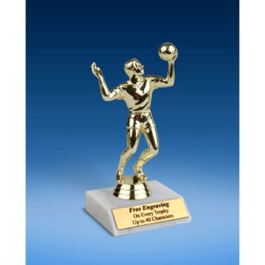 Volleyball Sport Figure Trophy 6""