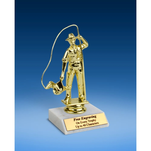 Fishing Sport Figure Trophy 6""