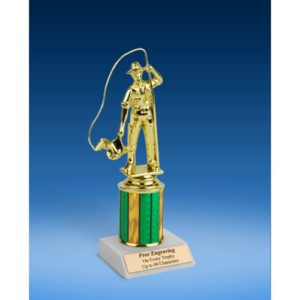 Fishing Sport Figure Trophy 8""