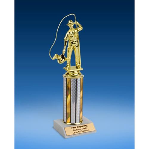"""Fishing Sport Figure Trophy 10"""""""