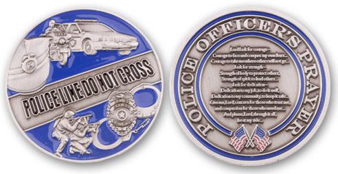 Police Officer's Prayer Coin