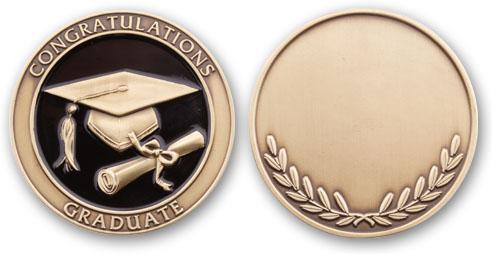Graduation Coin (Antique Brass)
