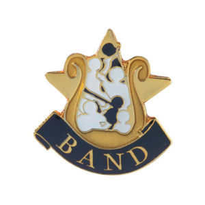 Band Music Banner Pin