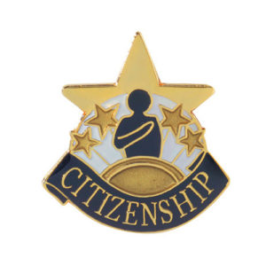 Citizenship Banner Pin