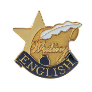English Banner Pin