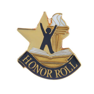 Honor Roll Banner Pin