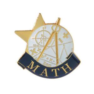 Math Banner Pin