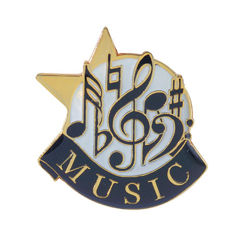Music Banner Pin