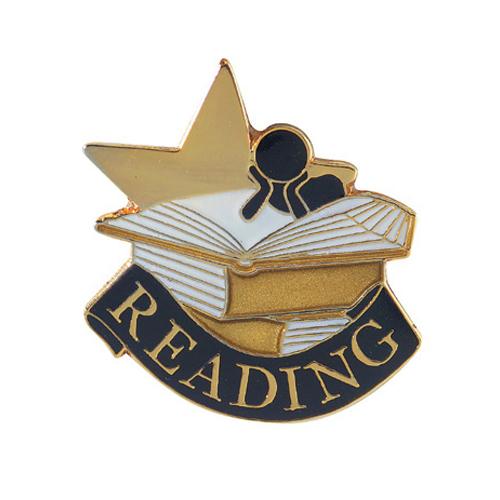 Reading Banner Pin