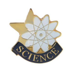 Science Banner Pin
