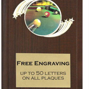 Billiards Plaque