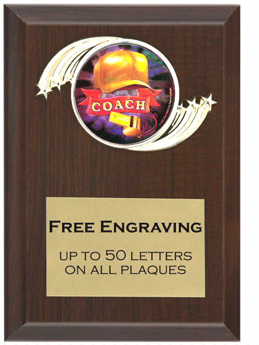 Coach Plaque
