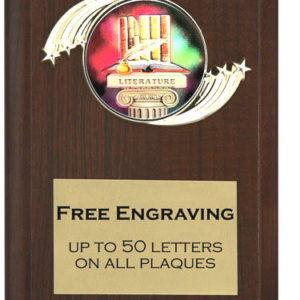Literature Plaque