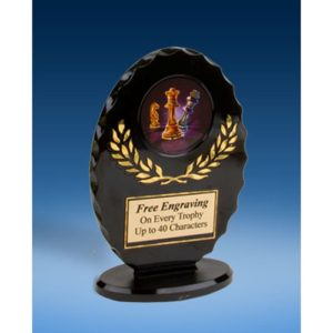 Chess Oval Black Acrylic Trophy